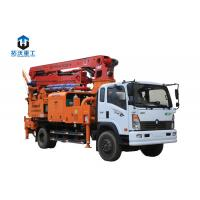 Truck Mounted Concrete Mixer Pump Truck / Concrete Boom Pump With 31m Boom