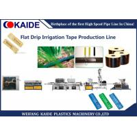 Quality Flat Type Drip Irrigation Tape Production Line 250m/Min With Flat Emitter for sale