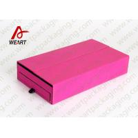 Quality Drawers Type Collapsible Paper Box , Retail Jewelry Cardboard Boxes With Logo for sale