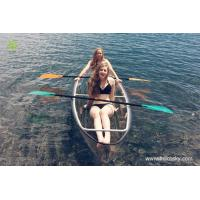 2016 wholesale polycarbonate transparent kayak clear canoe for two person