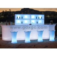 Brand new nightclub Bar counter LED light up Glowing blue color coffee table for outdoor use