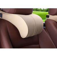 Quality Customized Shape Car Headrest Pillow Soft Memory Foam Material With Buckle for sale