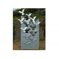 Quality Flying Large Metal Lawn Sculptures Animal Statue Wall Decoration Modern for sale