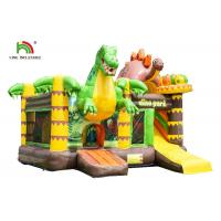 Quality Customized Size Dinosaurs Inflatable Bounce House / Toddler Bouncy Castle With Slide for sale