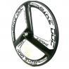 Buy cheap 700C Fixed Gear Clincher Carbon Track Bike Wheels 23MM Width Aero 3 Spoke Black from wholesalers