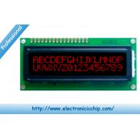 Quality STN Basic Character LCD Display 16x2 , Red on Black 3.3V display With ST7066 controller for sale