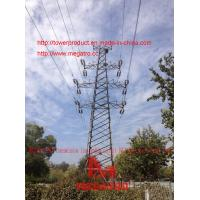 110KV Transmission line double circuit JGU2 drum type Tension tower from megatro company