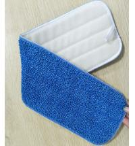 Quality Microfiber 13*48cm 450gsm Blue Twisted 5mm Sponge 280gsm Nylon Self-adhesive Mop Pad Head for sale
