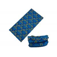 Blue Running UV Buff Headwear 100% Microfiber Polyester Low Fiber Properties