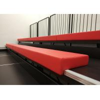 Multi Purpose Halls Retractable Tiered Seating With Leather Upholstery Bench