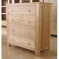 Classical ash wood furniture drawer file cabinet