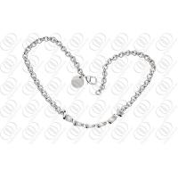 China Stylish Circle Silver Pendant Necklace 220mm Length 316L Stainless Steel Jewellery on sale