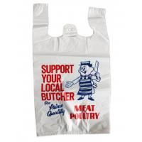 Quality Printed Plastic  Shopping Bags With Handles , Recycled Biodegradable Shopping Bags for sale