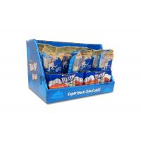 Quality Eye Catching Blue Cardboard Counter Display Boxes , Custom POS Counter Top Displays for sale