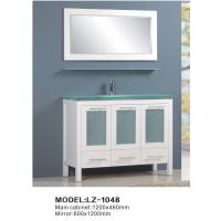 quality rubber solid wood modern bathroom cabinet furniture for sale