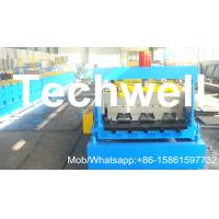 Quality PLC Control System Steel Deck Roll Forming Machine With 24 Forming Stations for sale