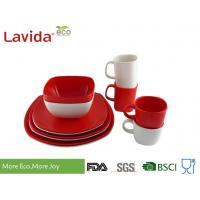 Quality Food Grade Safe Melamine Dish Sets BPA Free Customized Color Logo Printing for sale