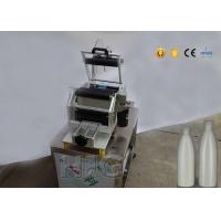 Omron Label Stock Semi Automatic Round Bottle Labeling Machine For Pet Bottle for sale