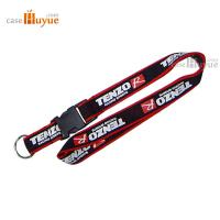 Quality Printed Lanyard neck polyester lanyard with a key ring and ABS buckle for sale