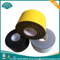 Yellow Industrial Tapes / Underground Pipe Wrapping Tape Butyl Rubber