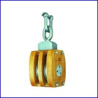 China B141 JIS Ship's Wooden Block DoublePulley With Shackle for marine for sale
