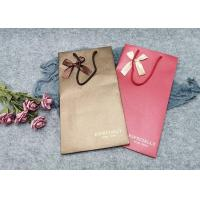China Printed Take Away Personalized Paper Wine Bottle Gift Bags Customized Size on sale
