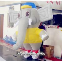 Quality Cute Cartoon Inflatable Puppet, 2m Height Inflatable Elephant for Sale for sale