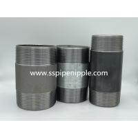 """Quality Threaded Black Steel Pipe Nipples  1"""" Long Hot Galvanized Surface for sale"""