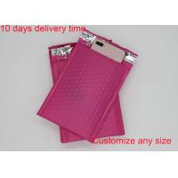 Quality Red Color Poly Bubble Mailers  4 * 8 Inch With High Frequency Heat Seal for sale