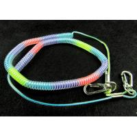 Flexible coil lanyard wire core spiral cord fishing tool item holder rainbow color spring
