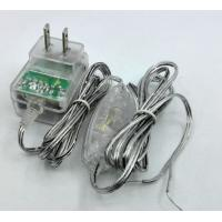 Quality Transparency adapter 12V 1A 24V 0.5A 5V 1A 5v 2a lucency case with 304 switch on DC cable for sale