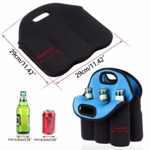 Quality Neoprene 6 -pack bottles beer cooler holder bag/ Insulated Water Bottle Wine Neoprene Cooler 6 Pack Beer Can Holder for sale