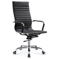 Quality High End Excecutive High Back Office Chair Pu Leather Chrome Arm Waterproof for sale