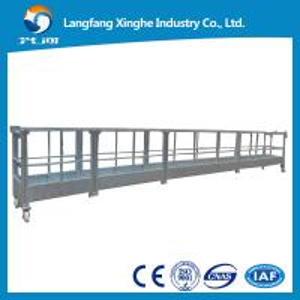 Quality aluminum/hot galvanizing steel cradle/ mast climbing work platform/suspended platform for sale