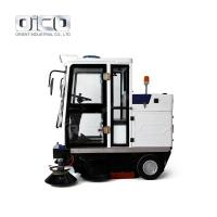 China OICO E800FB Industrial Fully Enclosed Cab Floor Sweeper Electric Automatic Vacuum Road Cleaning Machine for sale