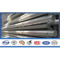 Quality Outdoor Electrical Power Pole , Transmission Steel Utility Power Poles for sale