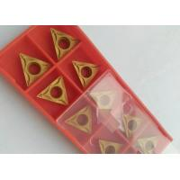 Quality PVD CVD Coating Indexable Carbide Inserts / Indexable Turning Inserts Yellow Color for sale