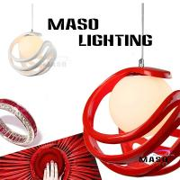 Rope adjustable red color E27 lamp holder indoor resin pendant lamp 60w ball shape