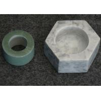 Quality Hexagon Shape Stone Candle Holders , Marble T Light Candle Holders 6x7.2x3.5cm for sale