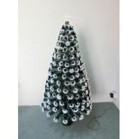 150CM 5FT 180TIPS  SNOWFLAKE LEAF AND STAR DECORATIONS  FIBER OPTICAL TREE