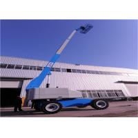 Quality Reliable Brake Towable Boom Lift Overhang Operation Converted By Switch Button Control for sale