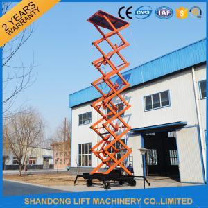 14m 4 wheels mobile work platform lift mobile electric scissor lift