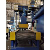 China PLC Control Wire Mesh Belt Sand Blasting Machine on sale