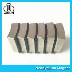 Quality N52 Sintered Neodymium Iron Boron Magnet Arc Shaped Custom Size And Shape for sale