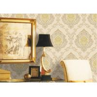 Quality Mulit Color Velvet Flock Wallpaper Strippable With 1.06*10M Size , Non - Pasted Style for sale