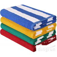 "Quality Stripe Cotton Bath Towels Plain Woven 30 "" X 60 "" High Absorbency For Swimming for sale"