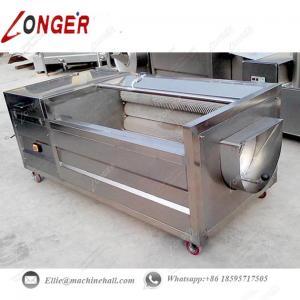 Quality Brush Type Potato Washing Machine|Automatic Brush Roller Potato Washing Machine|Brush Roller Potato Washing Machine for sale