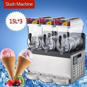 Buy cheap 300W Stainless Steel Ice Slush Machine / 15L×3 Smoothie Slush Machine For from wholesalers