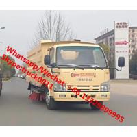 China 2019s new ISUZU 4*2 600P diesel Euro Ⅴ 130hp road sweeper truck for sale, road cleaning truck with sweeping brushes on sale