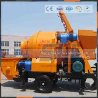 Quality 30m3/H Output Mobile Concrete Mixer And Pump Strong Transfer Capability for sale